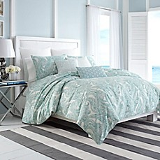 image of Nautica® Long Bay Duvet Cover in Aqua