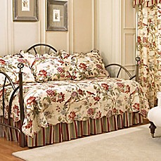 image of waverly charleston chirp reversible daybed bedding set in papaya - Daybed Cover Sets