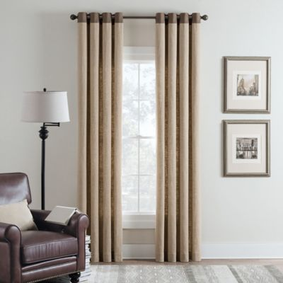 image of Cambria® Malta Remix Grommet Top Window Curtain Panel