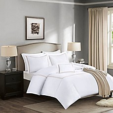 image of Madison Park Signature 1000-Thread-Count Embroidered Duvet Cover Set