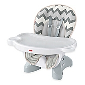 image of Fisher-Price® Deluxe Spacesaver High Chair in Grey/White