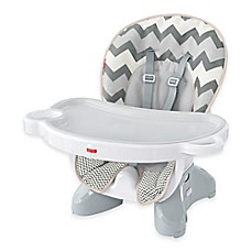 Image Of Fisher Price Deluxe Esaver High Chair In Grey White