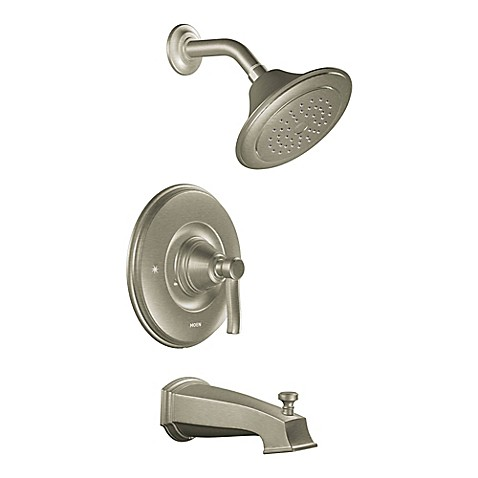Buy Moen Rothbury 1 Handle Wall Mount Shower And Tub Faucet In Brushed Nickel From Bed Bath
