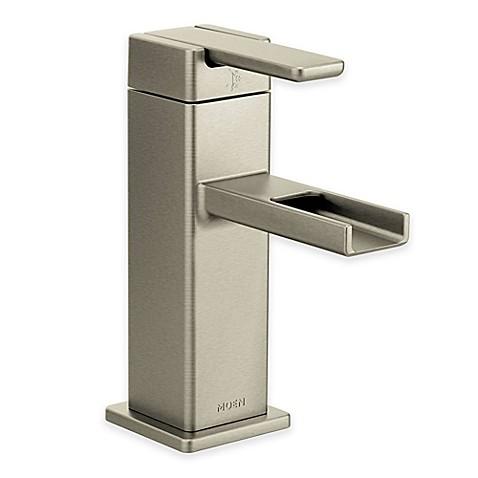 Moen 90 Degree Single Hole Bathroom Faucet In Brushed Nickel Bed Bath Beyond