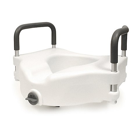Bios Living Clamp On Raised Toilet Seat In White Grey