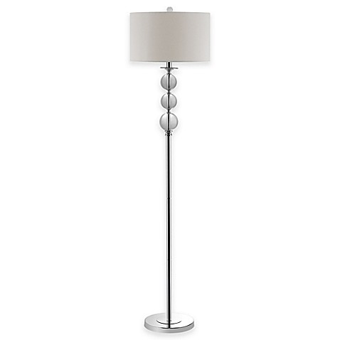 safavieh pippa glass globe floor lamp in silver with With silver globe floor lamp