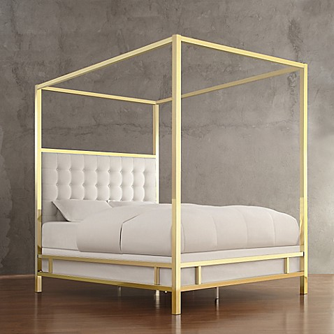 Verona Home Indio Gold Canopy Bed & Verona Home Indio Gold Canopy Bed - Bed Bath u0026 Beyond