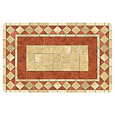 image of the softer side by weather guard red tile mosaic kitchen mat