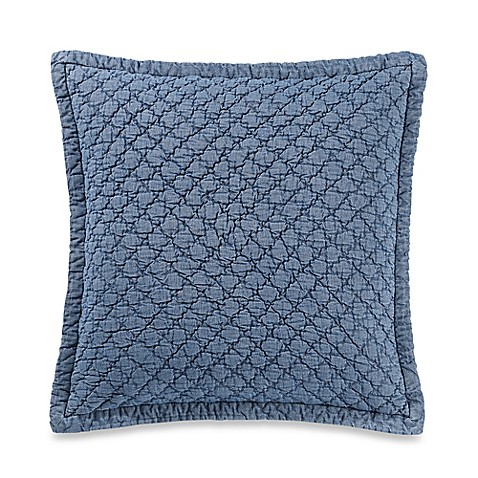 Kenneth Cole New York Fleur Quilted Throw Pillow in Chambray - Bed Bath & Beyond