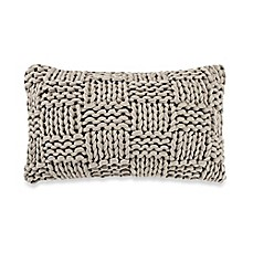 image of Kenneth Cole New York Dovetail Basket Knit Oblong Throw Pillow in Grey