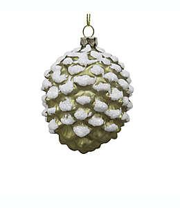 Esfera con diseño de piña navideña