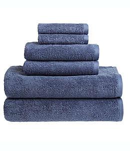 Set de toallas de algodón Clean Start color azul grisáceo