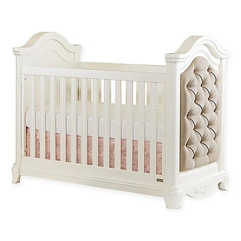 Bassettbabyu0026reg; PREMIER Addison 3 In 1 Upholstered Crib In Pearl White