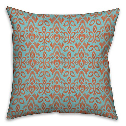 Bed Bath And Beyond Orange Throw Pillows : Buy Tribal Ikat 16-Inch Square Throw Pillow in Blue/Orange from Bed Bath & Beyond