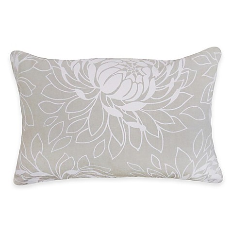 Buy Park B. Smith The Vintage House Lotus Oblong Throw Pillow in Grey from Bed Bath & Beyond