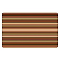 The Softer Side By Weather Guard™ Tanson Stripe Kitchen Mat In Orange