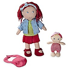 image of Haba Toys 12-Inch Rubina and Baby Doll