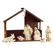 image of Belleek Holiday Collection 9-Piece Christmas Nativity Set