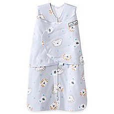 image of HALO® SleepSack® Lions, Tigers, Bears Multi-Way Adjustable Swaddle in Grey