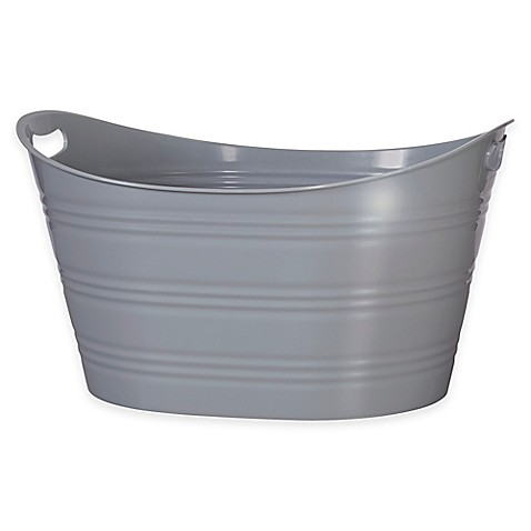 baby registry favorites creative bath storage tub in grey from buy buy baby. Black Bedroom Furniture Sets. Home Design Ideas