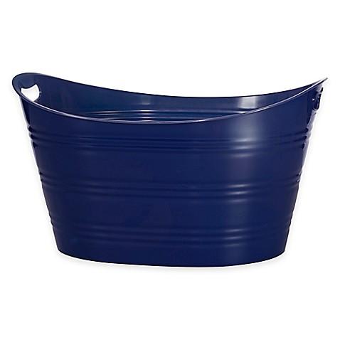 baby registry favorites creative bath storage tub in navy from buy buy. Black Bedroom Furniture Sets. Home Design Ideas