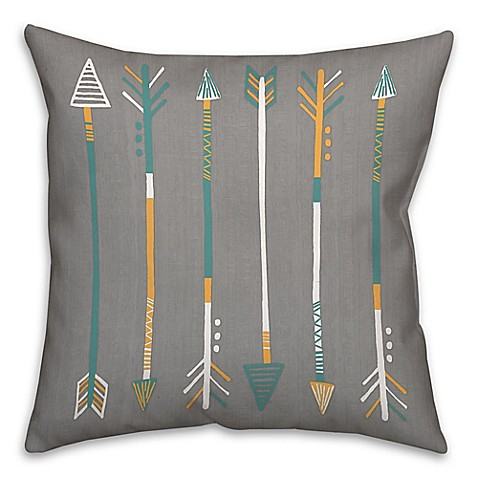 Madison Square 18-Inch Decorative Pillows : Buy Arrows 18-Inch Square Throw Pillow in Grey from Bed Bath & Beyond
