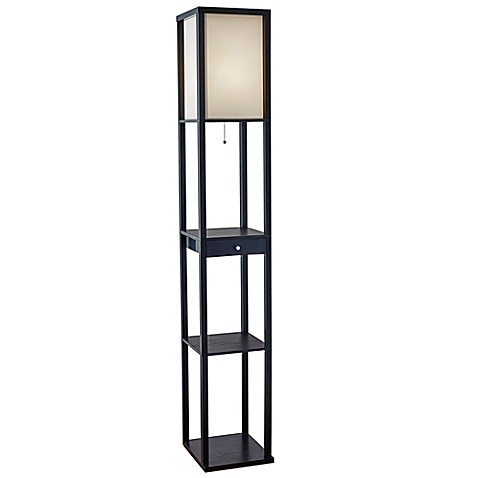 Adessor etagere floor lamp with drawer bed bath beyond for Etagere floor lamp bed bath and beyond