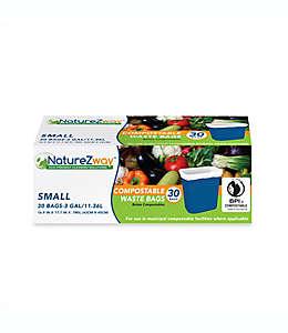 NatureZway™ Bolsas para basura compostables, Paquete de 30 pzas.