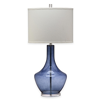 Safavieh Mercury 1 Light Crackle Glass Table Lamp With Cotton Shade