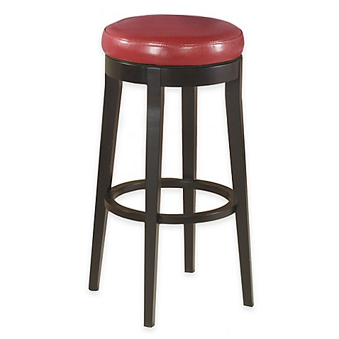 Buy Stanton 26 Inch Swivel Backless Barstool In Red From Bed Bath Beyond