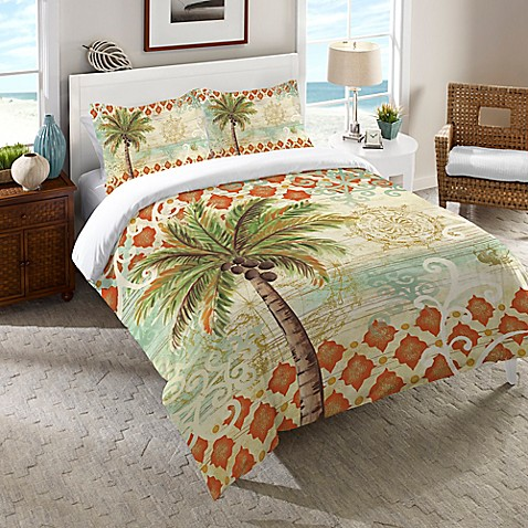 Laural Home® Spice Palm Comforter in Orange - Bed Bath ...