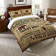 laural home welcome to the lodge comforter in brown