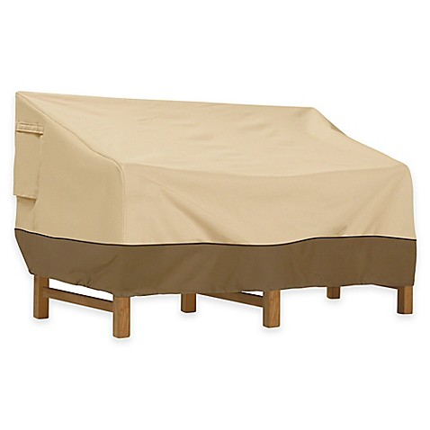 buy classic accessories veranda extra large outdoor loveseat cover from bed bath beyond. Black Bedroom Furniture Sets. Home Design Ideas