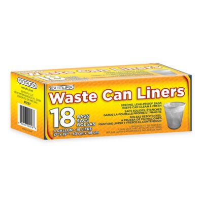 image of 4 Gallon 18-Count Waste Can Liners