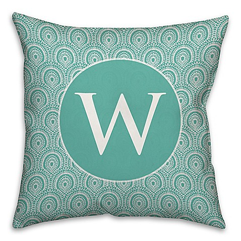 Blue Medallion Throw Pillows : Trendy Medallion Square Throw Pillow in Blue/White - Bed Bath & Beyond