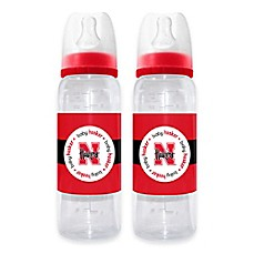 image of NCAA University of Nebraska 2-Pack 9 fl. oz. Plastic Baby Bottle