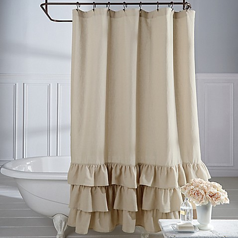 Curtains Ideas bed bath and beyond bathroom curtains : Veratex Vintage Ruffle Shower Curtain - Bed Bath & Beyond