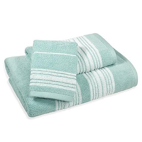 Buy Coastal Stripe Hand Towel In Blue From Bed Bath Beyond