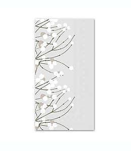 Toallas desechables de papel Boston International de 3 capas con diseño baya de nieve 16 piezas