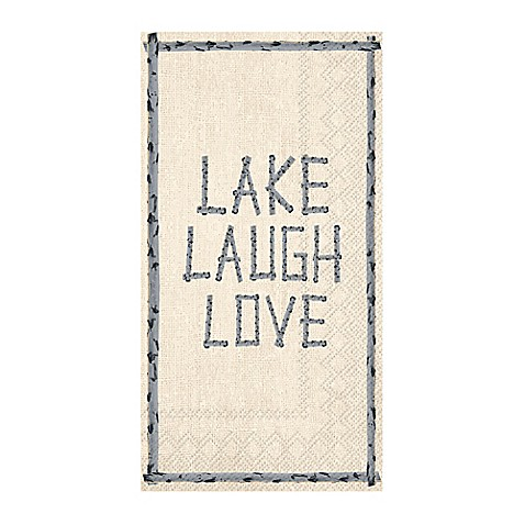 Lake laugh love 3 ply paper guest towels bed bath beyond - Disposable guest towels for bathroom ...