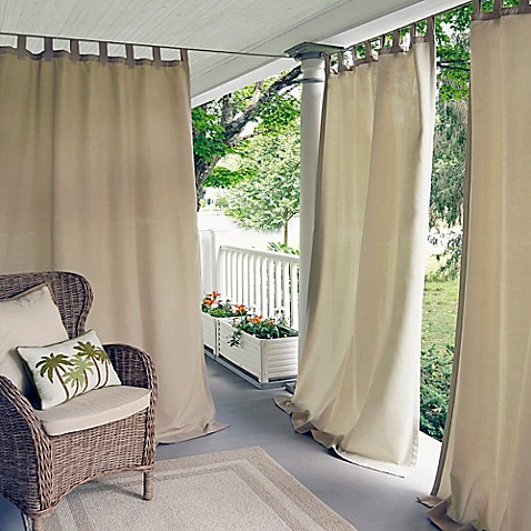 image of elrene matine tab top window curtain panel