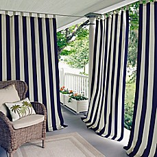 Amazing Image Of Elrene Highland Stripe Indoor/Outdoor Tab Top Window Curtain Panel