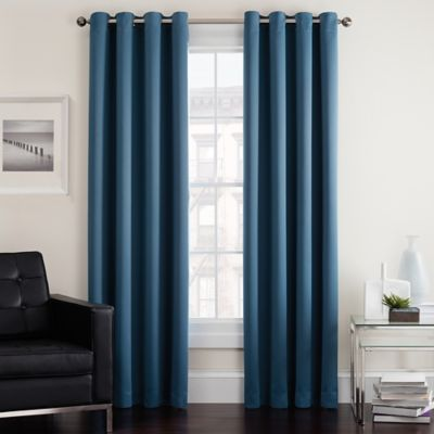 Twilight Room Darkening Grommet Window Curtain Panel Bed Bath