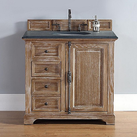 Buy james martin furniture providence 36 inch single vanity with black rustic stone top in for 36 inch rustic bathroom vanity