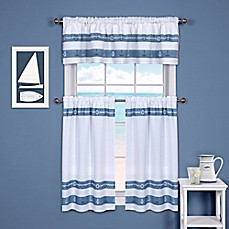 Bon Ships And Chambray Kitchen Window Curtain Tier And Valance