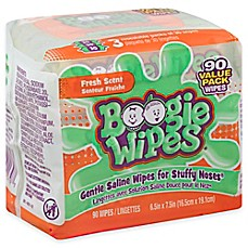 image of Boogie Wipes® 3-Pack 30-Count Saline Wipes in Fresh Scent