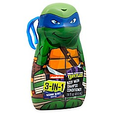 image of Nickelodeon Teenage Mutant Ninja Turtles 3-in-1 Body Wash, Shampoo, and Conditioner in Boomin' Berry