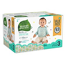 image of Seventh Generation™ 93-Count Size 3 Free & Clear Diapers