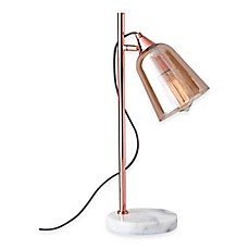 office lamp. Adesso® Marlon Table Lamp In Copper With Glass Shade Office 8
