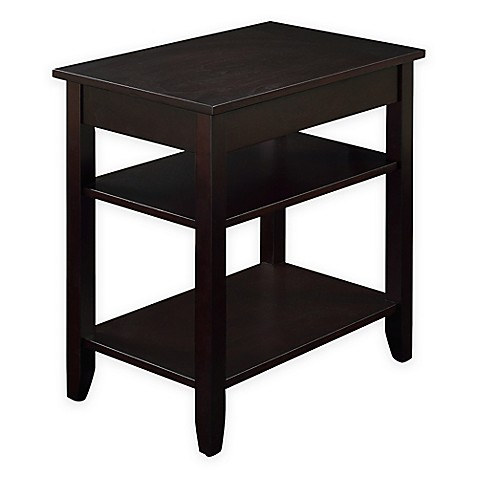 3 Tier Accent Table With Usb Power Ports In Espresso